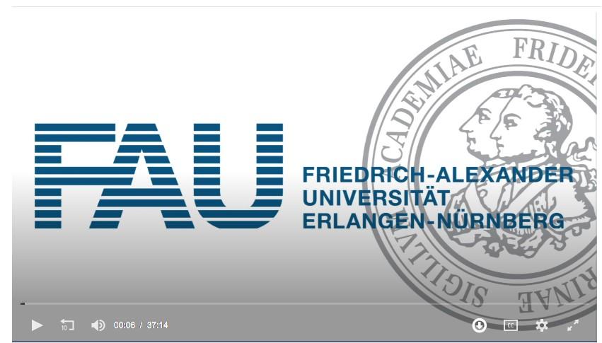 Screenshot: FAU Logo und Siegel in einem Videoteaser