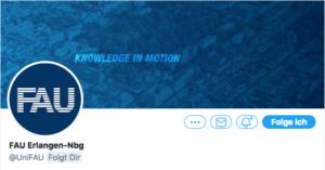 Screenshot: Twitter-Logo der FAU